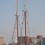 Tourist boat at Boston harbor