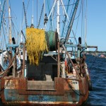Old fisherman boat at Provincetown, Cape Cod, MA